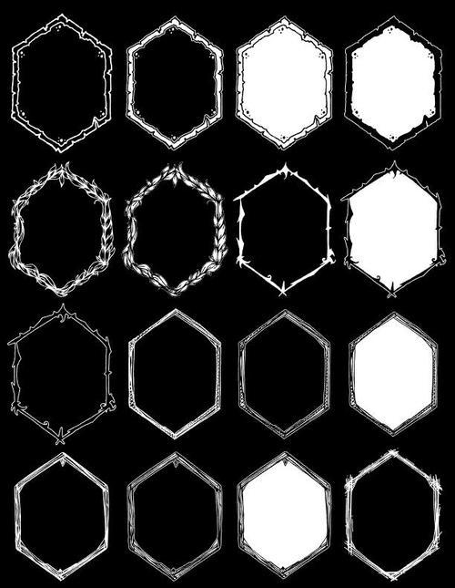 Polygons element frame vector