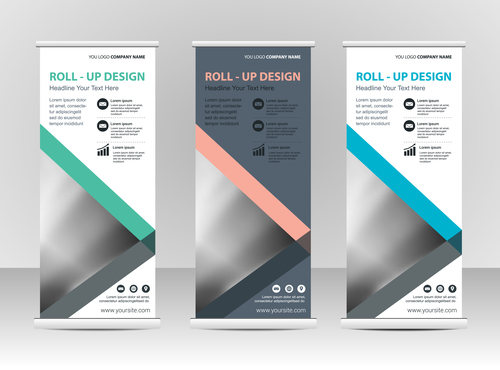Practical vertical business banners vector