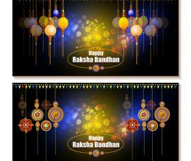 Pretty raksha bandhan banner vector