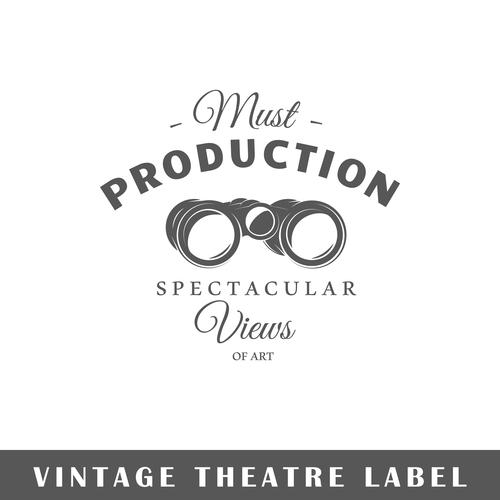 Production spectacular card vector