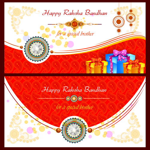 Raksha bandhan card vector