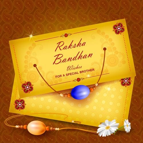 Raksha bandhan invitation card vector