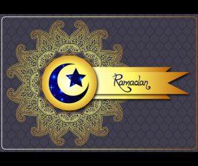 Ramadan exquisite card vector