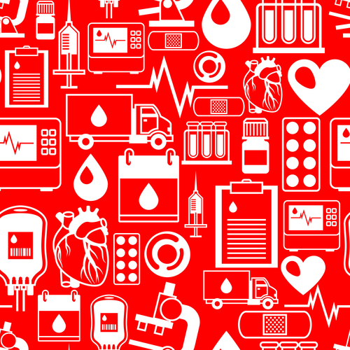 Red medical background vector