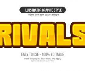 Rivals illustrator graphic style vector