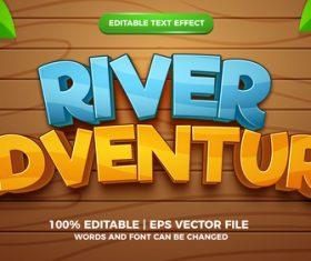 River adventure cartoon style 3d template vector