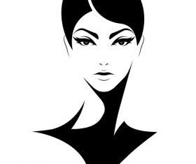 Ruthless woman portrait vector