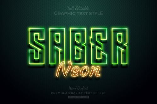 Saber non editable text style vector