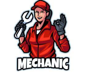Service logo design template vector