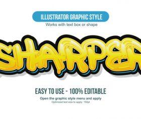 Sharper illustrator graphic style vector