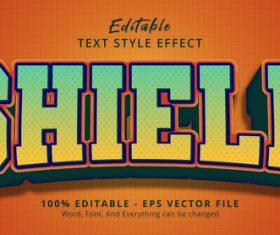 Shield editable text effect vector