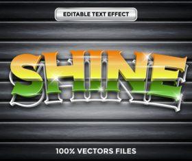 Shine text effect vector