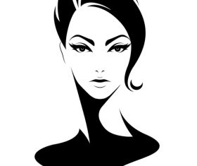 Short hair female hairstyle vector
