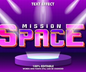 Space style text effect vector