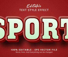 Sport editable eps text effect vector
