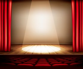Stage center lighting effect vector