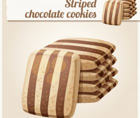 Striped chocolate cookies