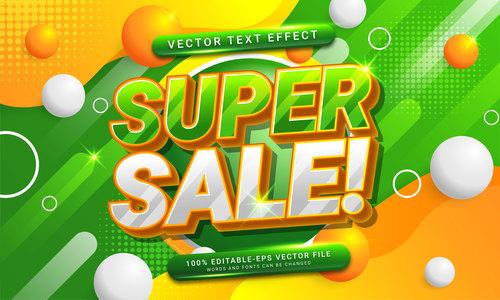 Super sale vector text effect