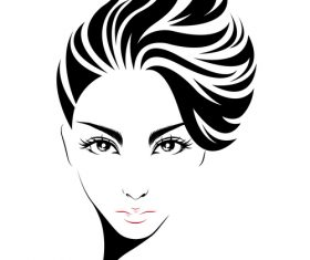 Super short hairstyle vector