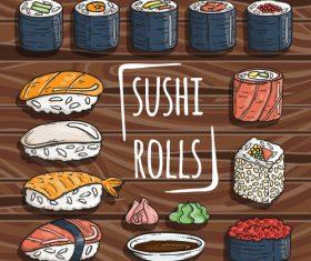 Sushi rolls vector