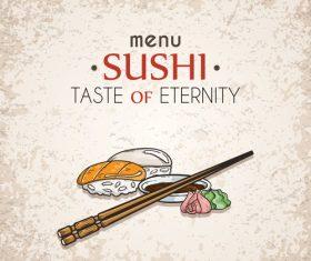 Sushi taste of eternity vector