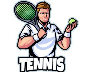 Tennis logo design template vector