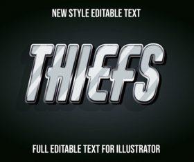 Thiefs new style editable text vector