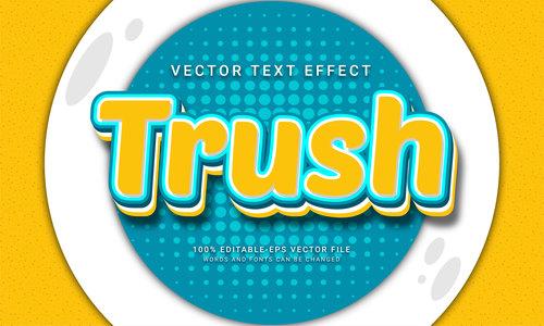 Trash vector text effect
