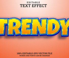 Trendy vector text effect