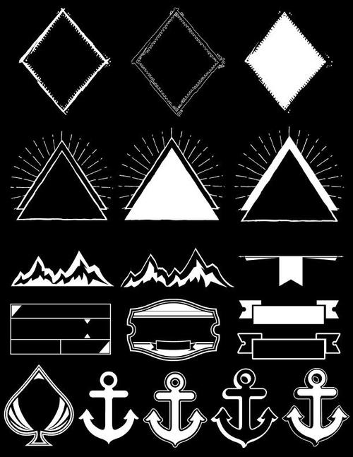 Triangle anchor element frame vector