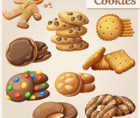 Various biscuits vector