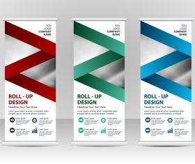Vertical business banners vector