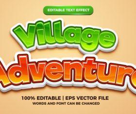 Village adventure cartoon comic style 3d template vector