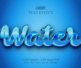 Water text effect vector
