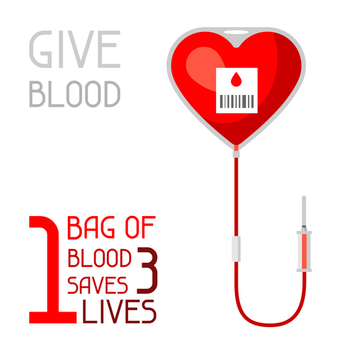 We need your blood to save people vector