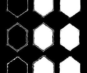 White and black diamond frame vector