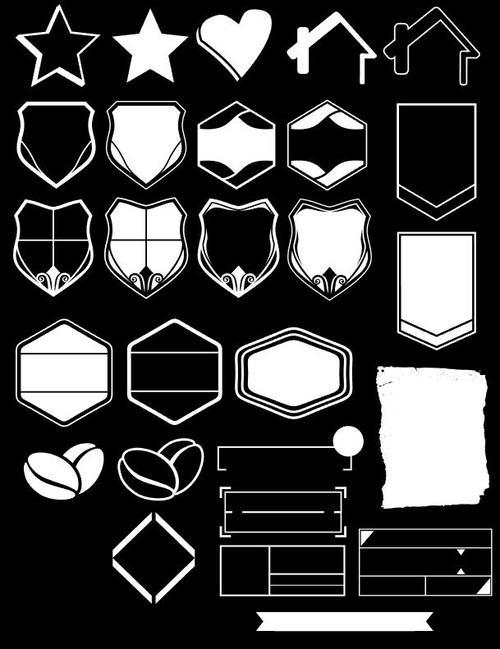 White various multilateral element frame vector
