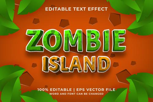 ZOMBIE ISLAND text effect vector