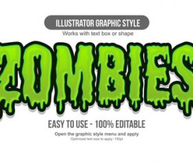 Zombies illustrator graphic style vector