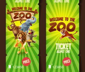 Zoo banner vector