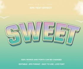 sweet vector text effect