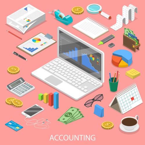 Accounting illustration vector