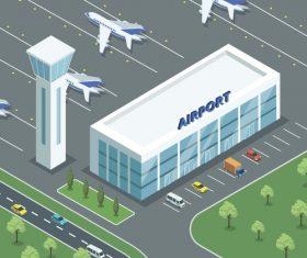 Airport isometric vector