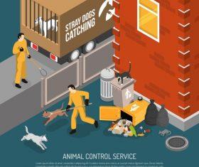 Animal control illustration vector