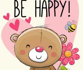 Be happy bear vector