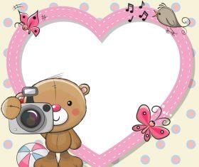 Bear photo vector