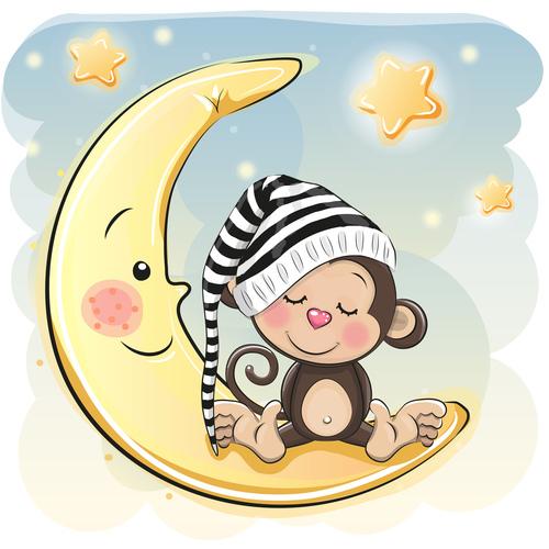 Beautiful dream cartoon illustration vector