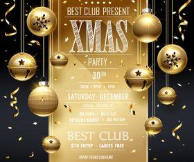 Best club present xmas party vector