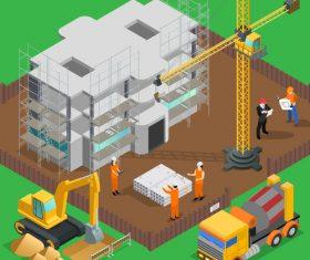 Building construction cartoon vector
