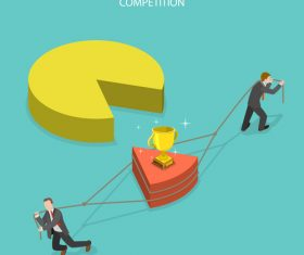 Business competition illustration vector